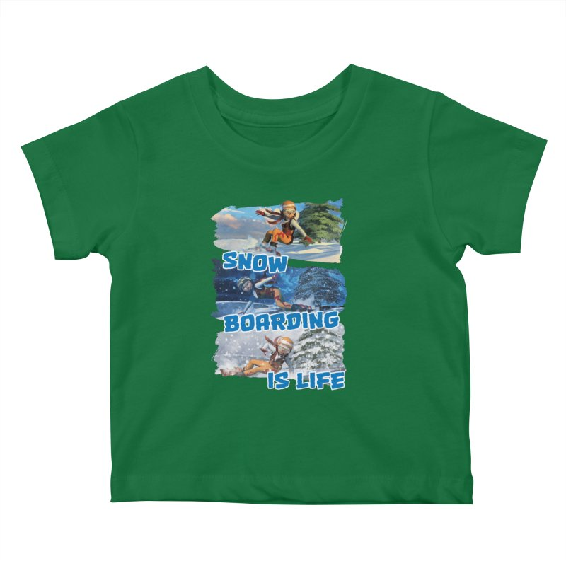 Snowboarding is Life Kids Baby T-Shirt by Puttyhead's Artist Shop