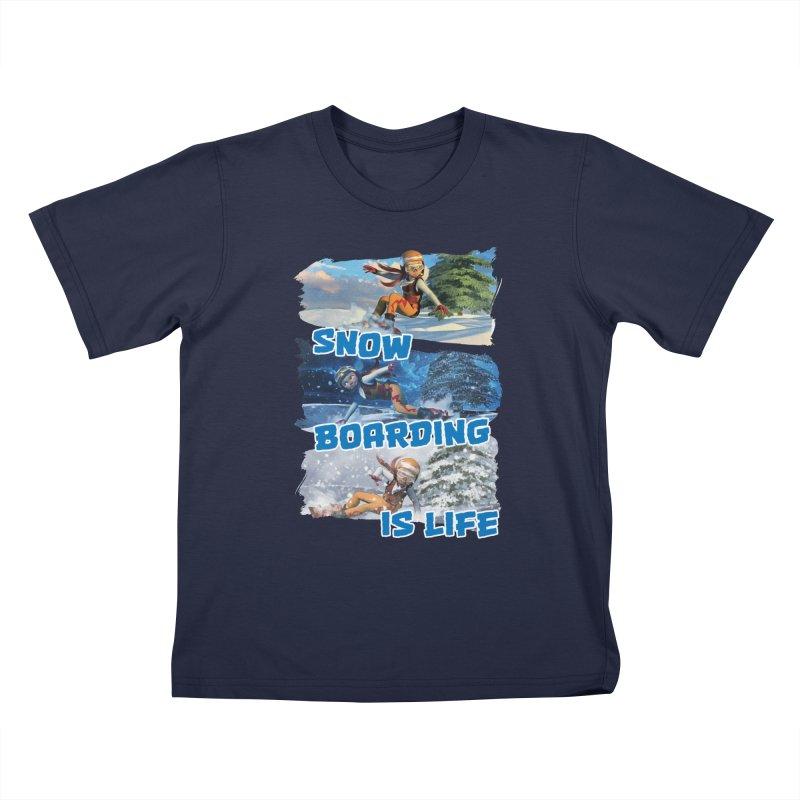 Snowboarding is Life Kids T-Shirt by Puttyhead's Artist Shop