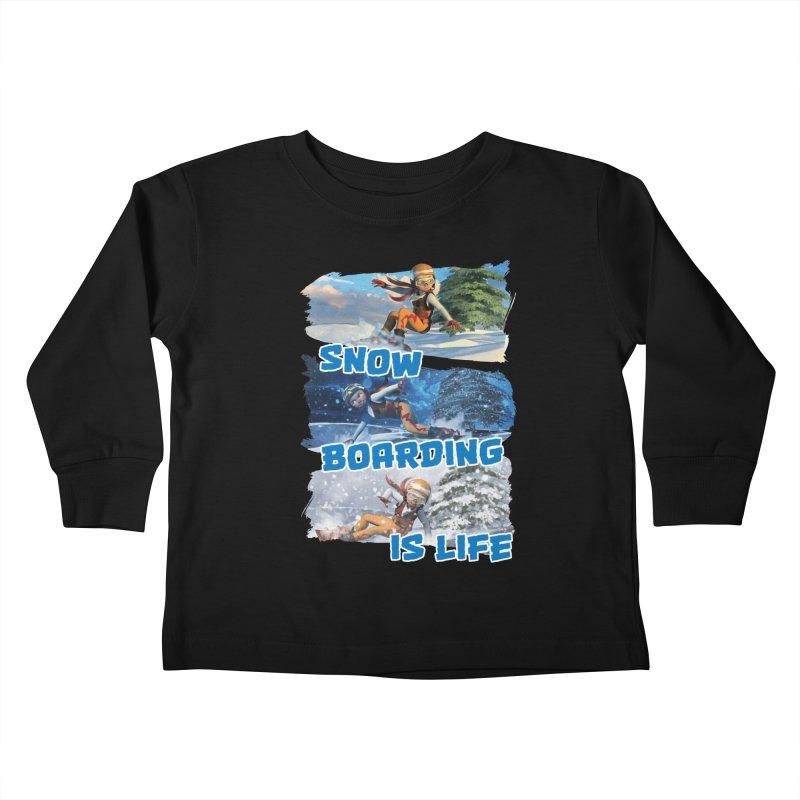 Snowboarding is Life Kids Toddler Longsleeve T-Shirt by Puttyhead's Artist Shop