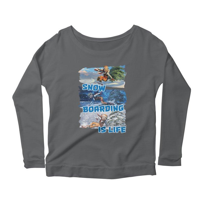 Snowboarding is Life Women's Longsleeve T-Shirt by Puttyhead's Artist Shop