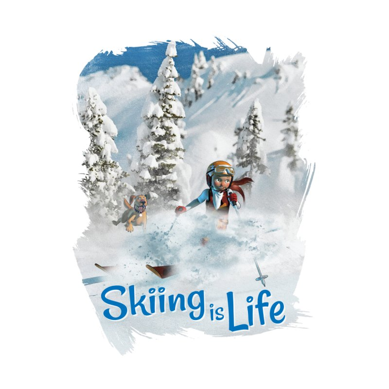 Skiing is Life Women's Zip-Up Hoody by Puttyhead's Artist Shop