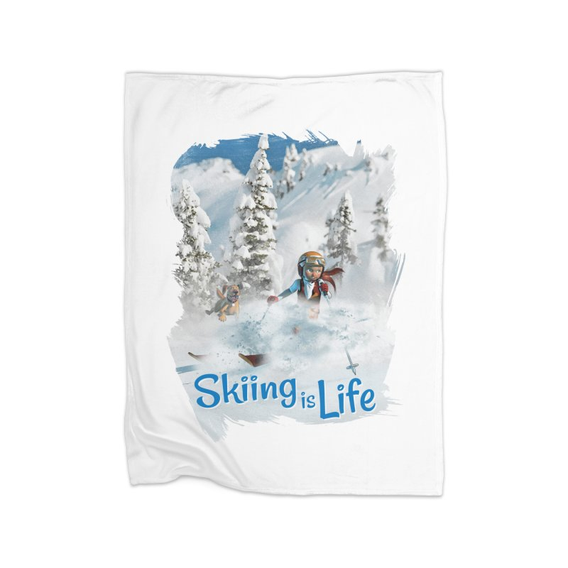Skiing is Life Home Blanket by Puttyhead's Artist Shop