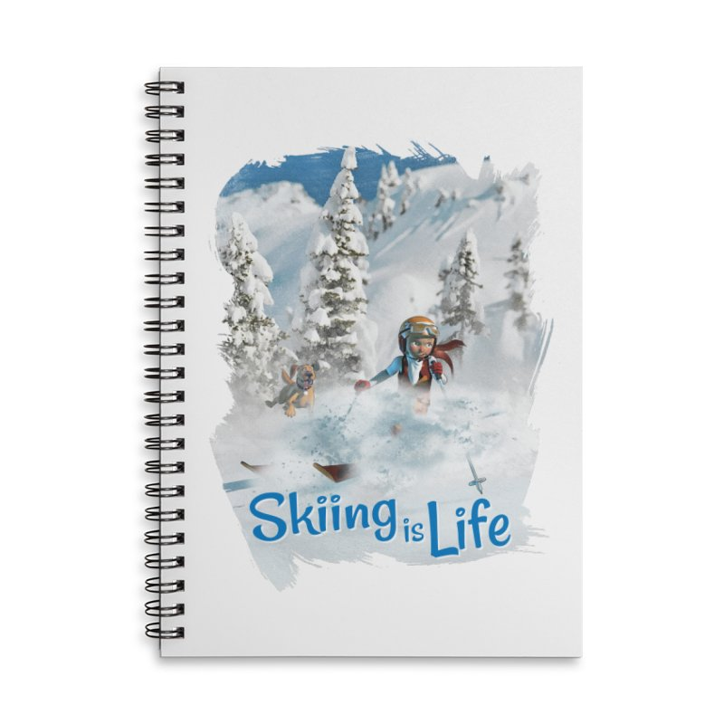 Skiing is Life Accessories Notebook by Puttyhead's Artist Shop