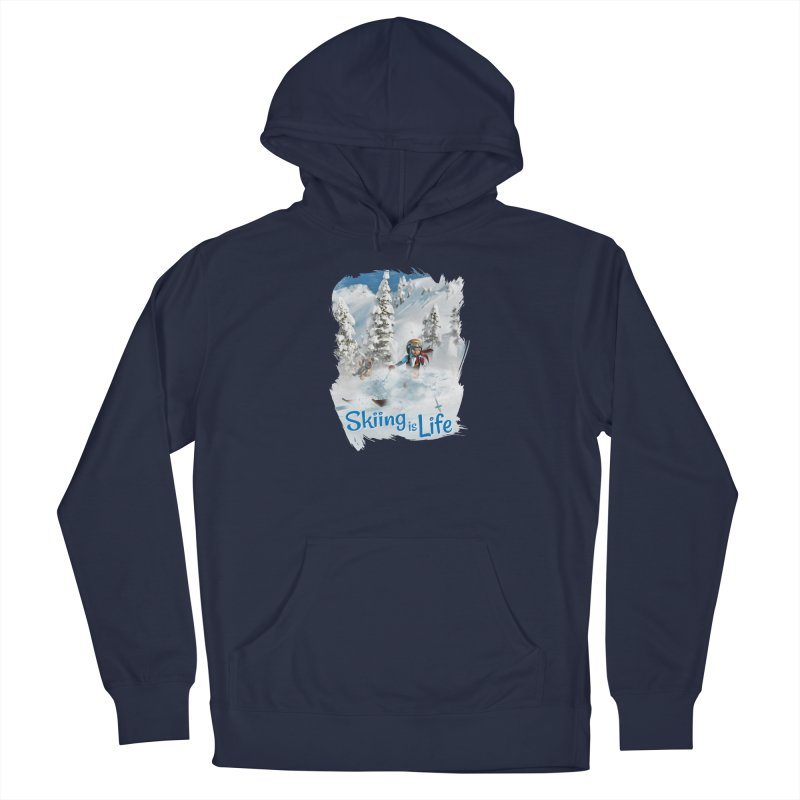 Skiing is Life Men's Pullover Hoody by Puttyhead's Artist Shop