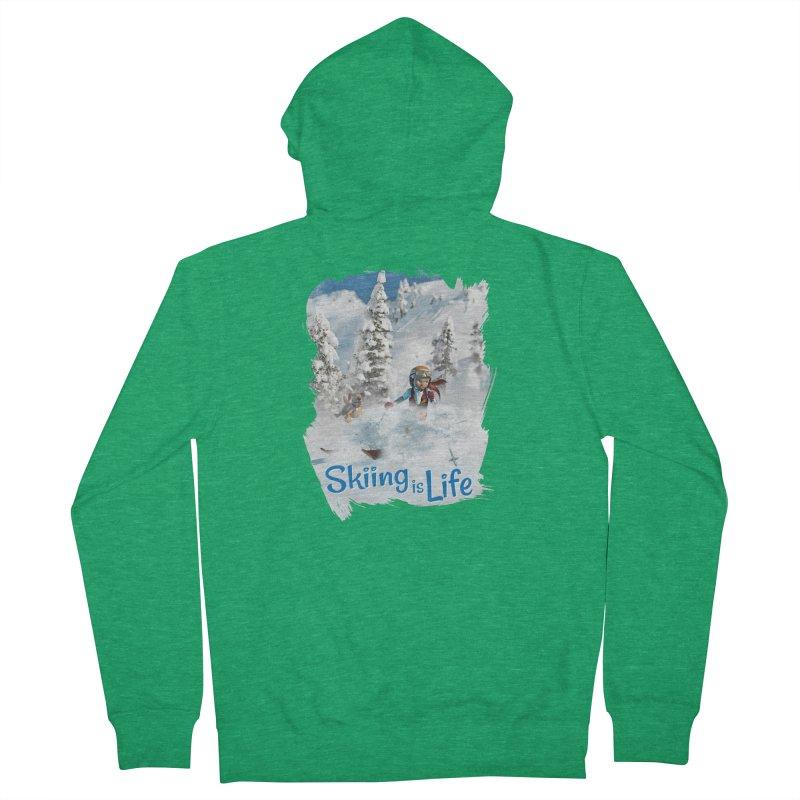 Skiing is Life Men's Zip-Up Hoody by Puttyhead's Artist Shop