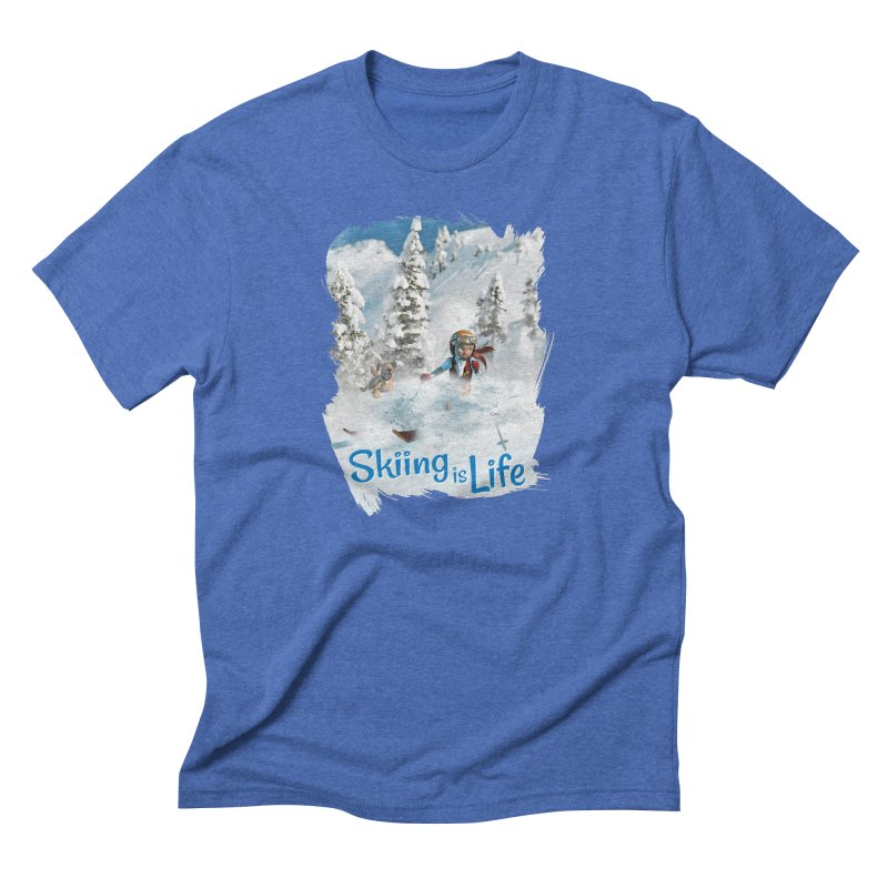 Skiing is Life Men's T-Shirt by Puttyhead's Artist Shop