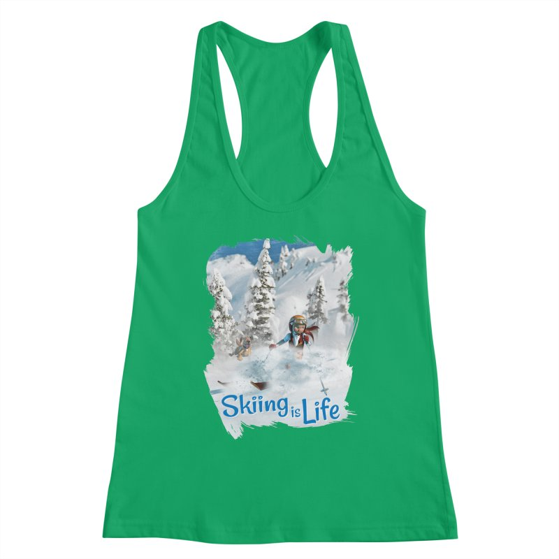 Skiing is Life Women's Tank by Puttyhead's Artist Shop