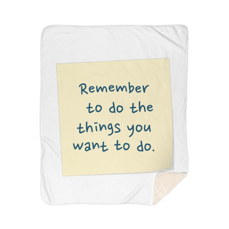 Remember! Home Blanket by Puttyhead's Artist Shop
