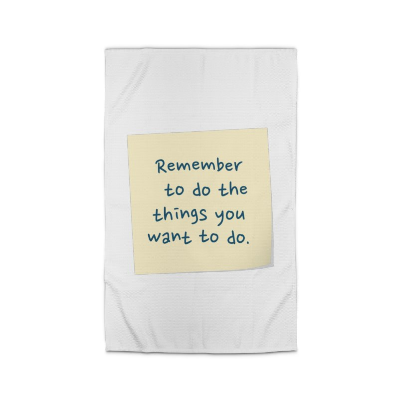 Remember! Home Rug by Puttyhead's Artist Shop