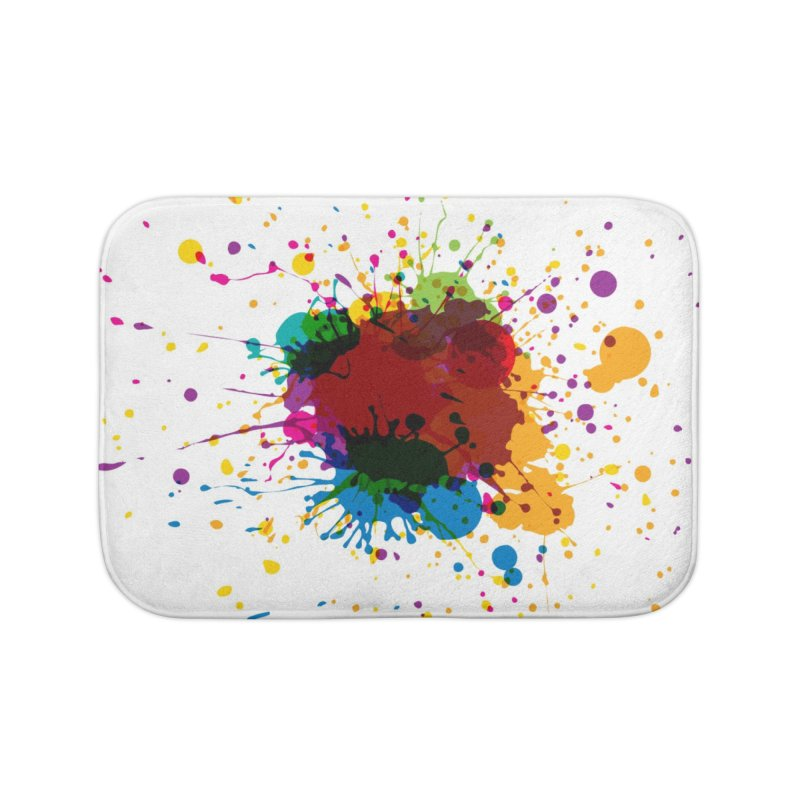 Splotch! (just one) Home Bath Mat by Puttyhead's Artist Shop