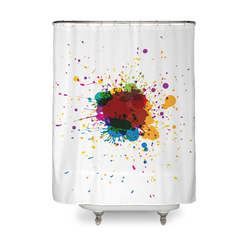 Splotch! (just one) Home Shower Curtain by Puttyhead's Artist Shop