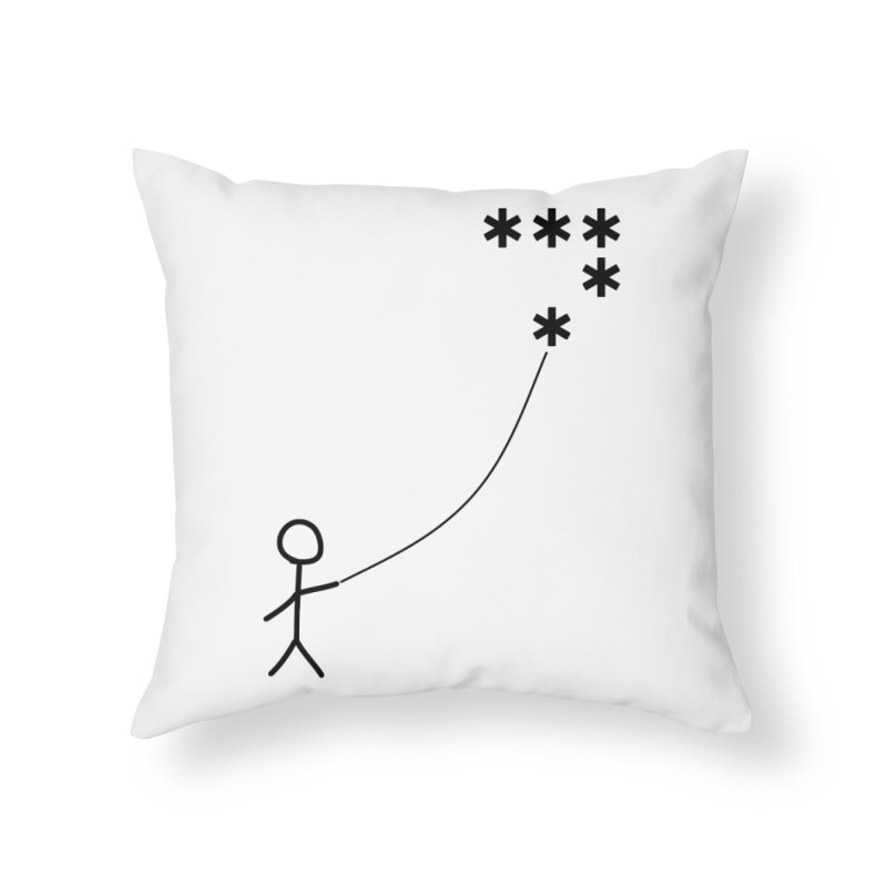 Go Fly a Kite - Light Home Throw Pillow by Puttyhead's Artist Shop