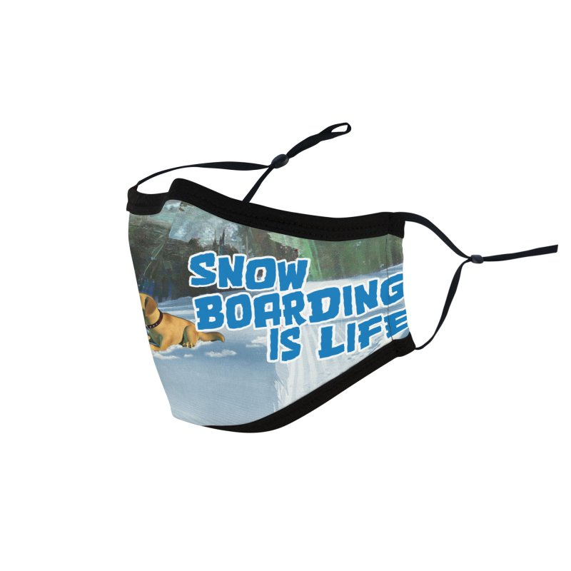 Snowboarding is Life 2 Accessories Face Mask by Puttyhead's Artist Shop