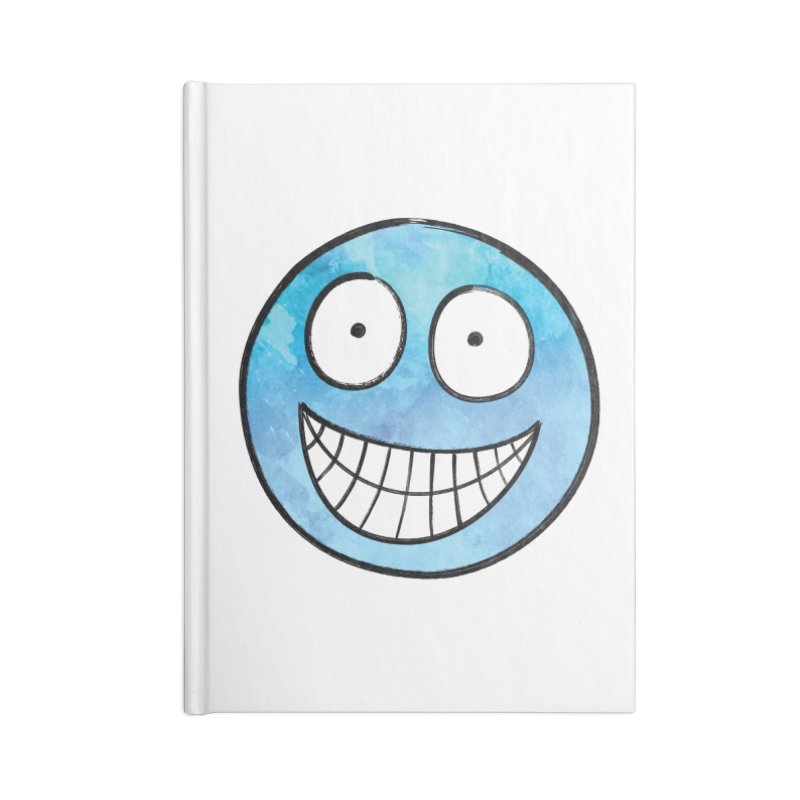 Smiley-Face - Blue Accessories Notebook by Puttyhead's Artist Shop