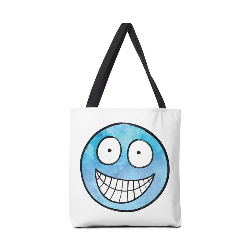 Smiley-Face - Blue Accessories Bag by Puttyhead's Artist Shop
