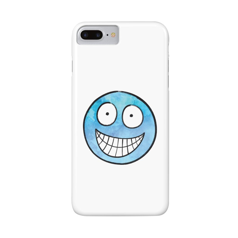 Smiley-Face - Blue Accessories Phone Case by Puttyhead's Artist Shop