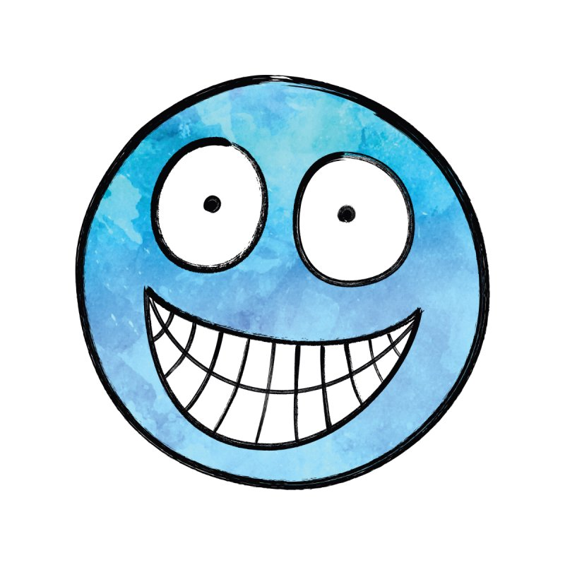 Smiley-Face - Blue None  by Puttyhead's Artist Shop