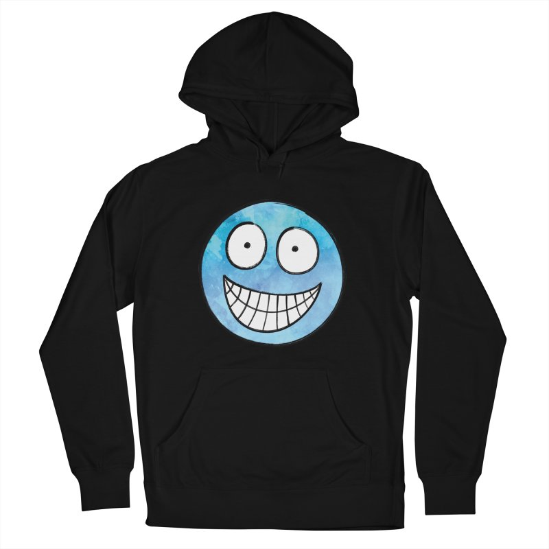 Smiley-Face - Blue Women's Pullover Hoody by Puttyhead's Artist Shop