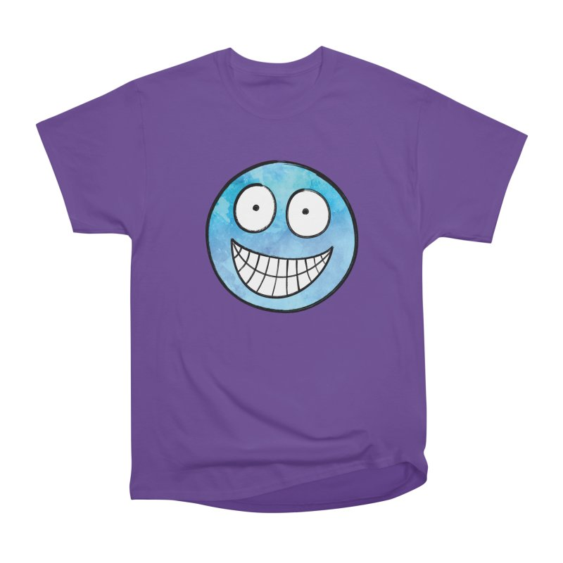 Smiley-Face - Blue Women's Classic Unisex T-Shirt by Puttyhead's Artist Shop