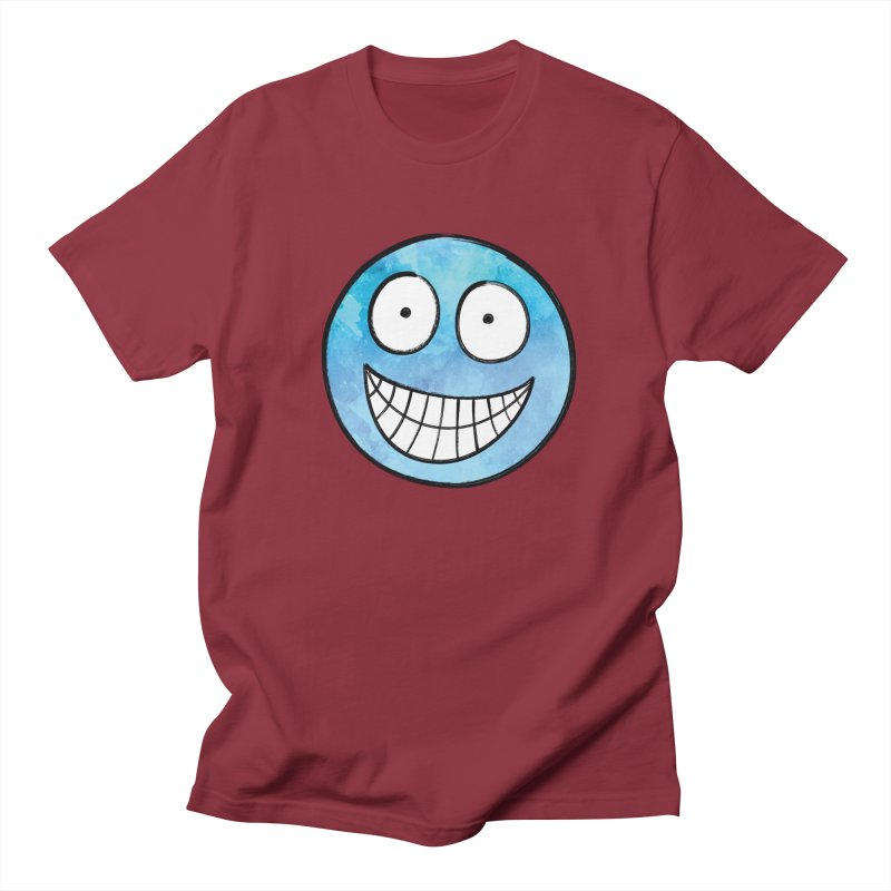 Smiley-Face - Blue Women's Unisex T-Shirt by Puttyhead's Artist Shop