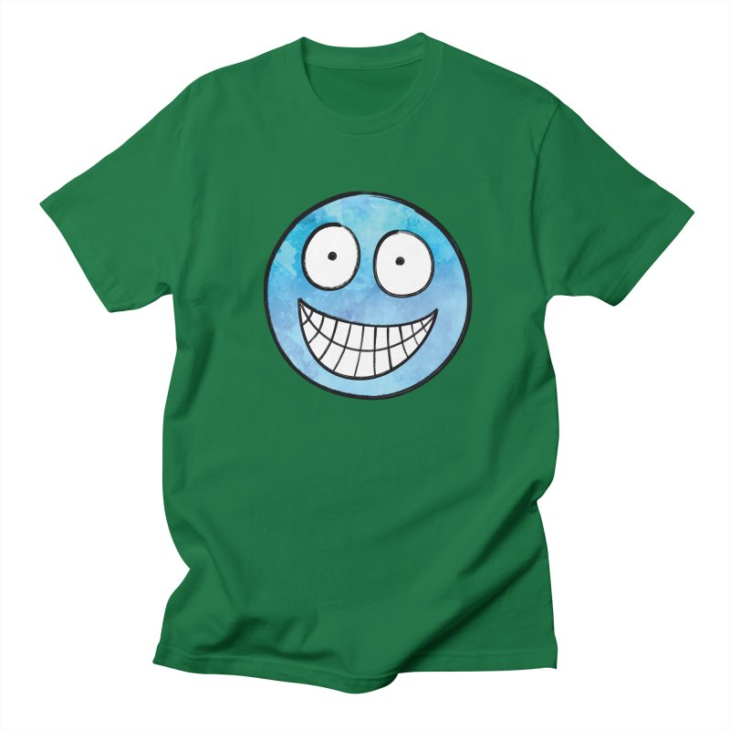 Smiley-Face - Blue Women's Unisex T-Shirt by Puttyhead's Artist Shop