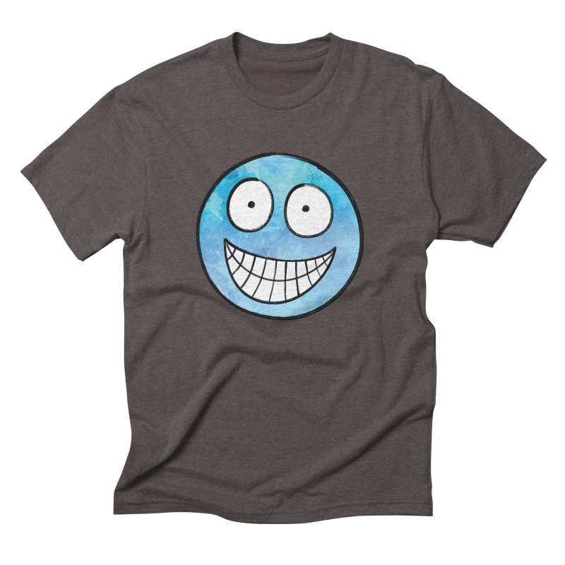 Smiley-Face - Blue Men's Triblend T-shirt by Puttyhead's Artist Shop