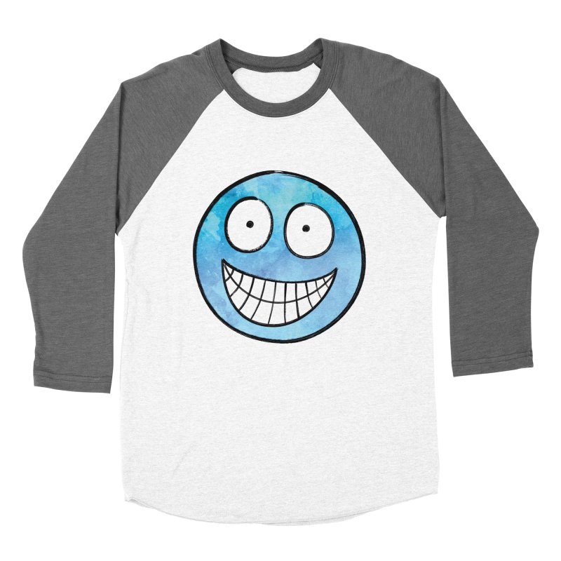 Smiley-Face - Blue Women's Baseball Triblend T-Shirt by Puttyhead's Artist Shop