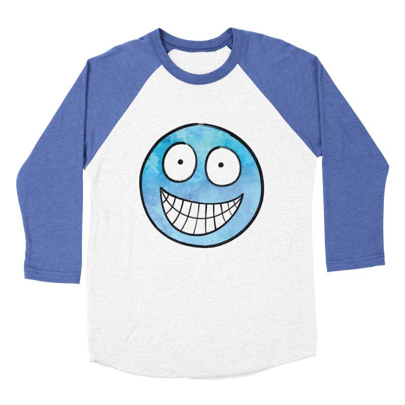 Smiley-Face - Blue Men's Baseball Triblend T-Shirt by Puttyhead's Artist Shop