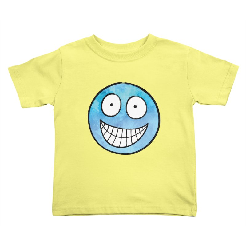 Smiley-Face - Blue Kids Toddler T-Shirt by Puttyhead's Artist Shop