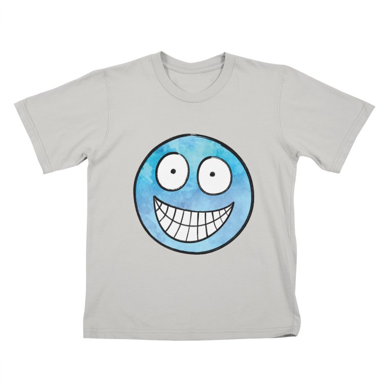 Smiley-Face - Blue Kids T-shirt by Puttyhead's Artist Shop