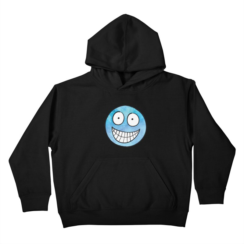 Smiley-Face - Blue Kids Pullover Hoody by Puttyhead's Artist Shop