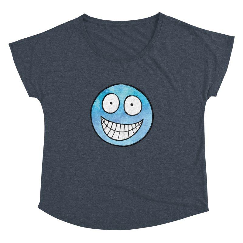 Smiley-Face - Blue Women's Dolman by Puttyhead's Artist Shop