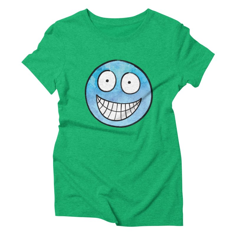 Smiley-Face - Blue Women's Triblend T-shirt by Puttyhead's Artist Shop