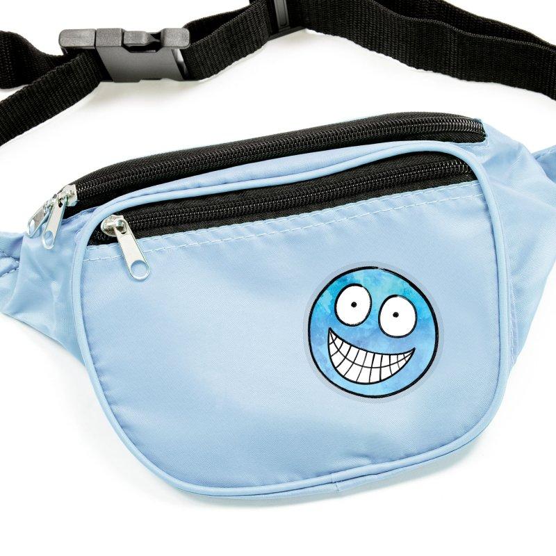Smiley-Face - Blue Accessories Sticker by Puttyhead's Artist Shop