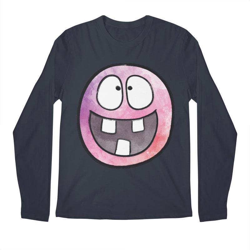 Smiley-Face - 3-teeth Men's Longsleeve T-Shirt by Puttyhead's Artist Shop