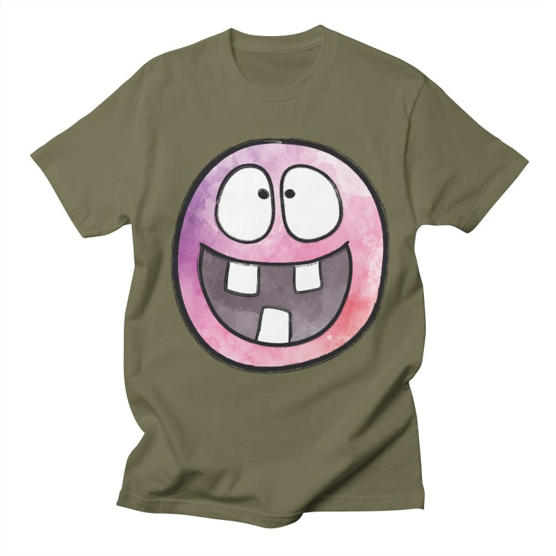 Smiley-Face - 3-teeth Men's T-shirt by Puttyhead's Artist Shop