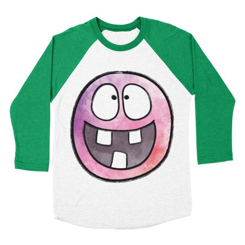Smiley-Face - 3-teeth Women's Baseball Triblend T-Shirt by Puttyhead's Artist Shop