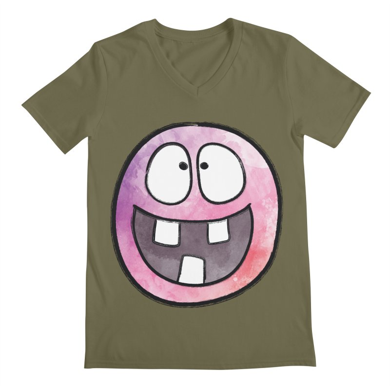 Smiley-Face - 3-teeth Men's V-Neck by Puttyhead's Artist Shop