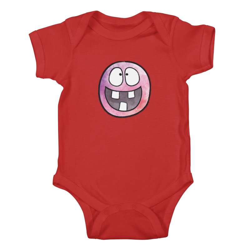 Smiley-Face - 3-teeth Kids Baby Bodysuit by Puttyhead's Artist Shop