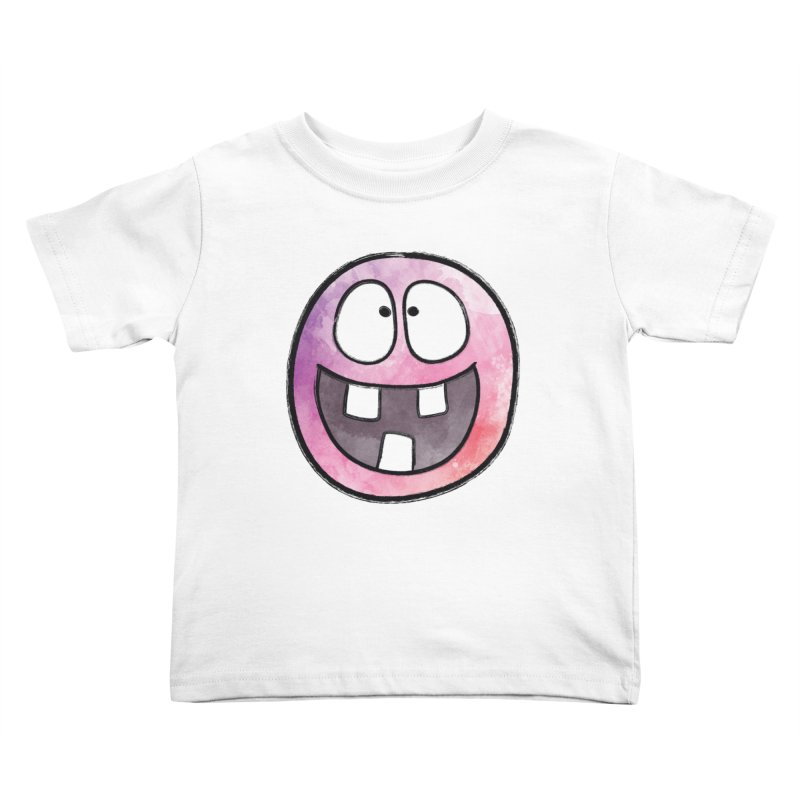 Smiley-Face - 3-teeth Kids Toddler T-Shirt by Puttyhead's Artist Shop