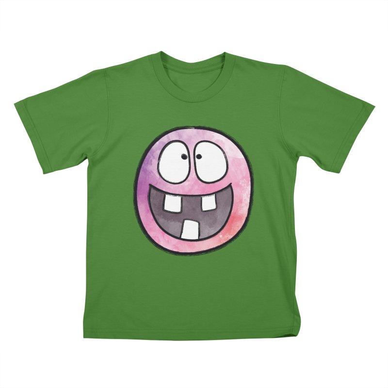 Smiley-Face - 3-teeth Kids T-Shirt by Puttyhead's Artist Shop