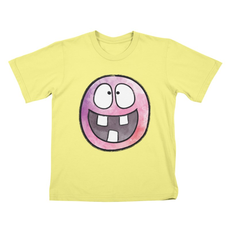 Smiley-Face - 3-teeth Kids T-shirt by Puttyhead's Artist Shop