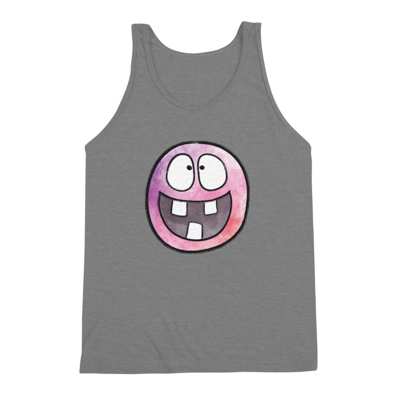 Smiley-Face - 3-teeth Men's Triblend Tank by Puttyhead's Artist Shop