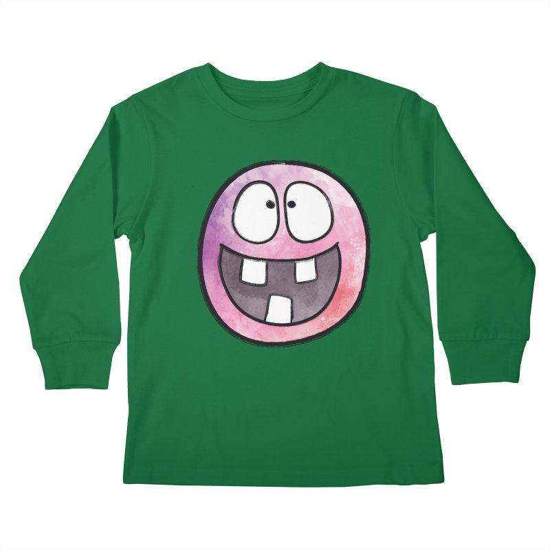Smiley-Face - 3-teeth Kids Longsleeve T-Shirt by Puttyhead's Artist Shop