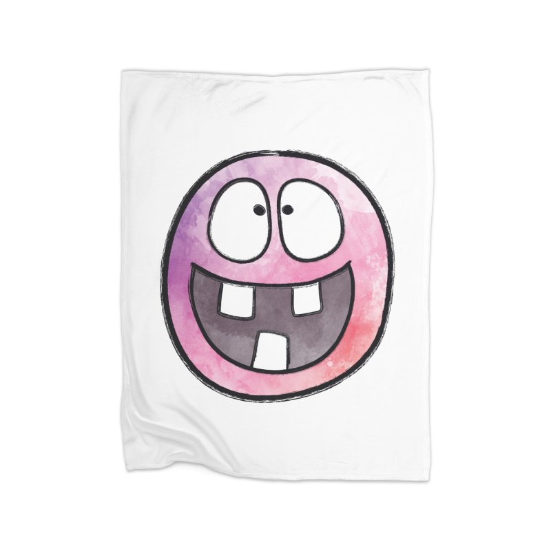 Smiley-Face - 3-teeth Home Blanket by Puttyhead's Artist Shop
