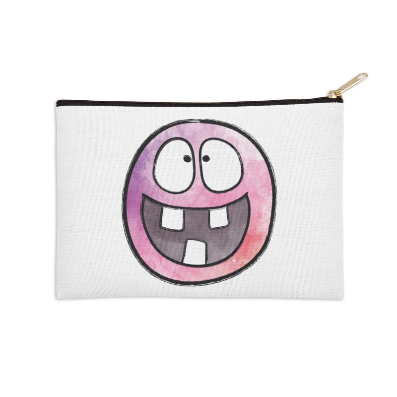 Smiley-Face - 3-teeth Accessories Zip Pouch by Puttyhead's Artist Shop