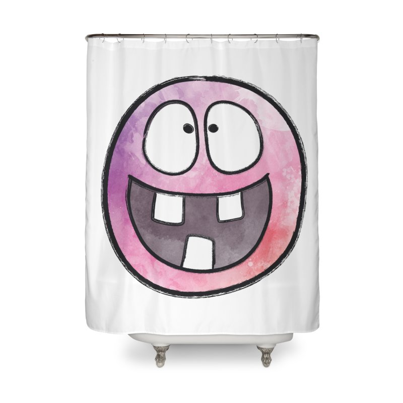 Smiley-Face - 3-teeth Home Shower Curtain by Puttyhead's Artist Shop