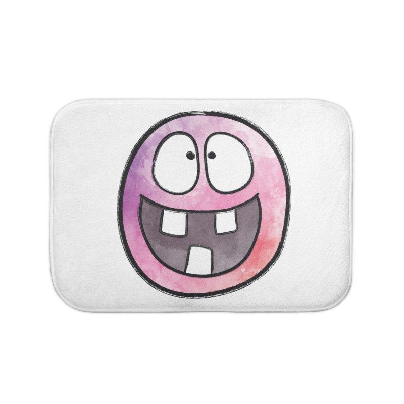 Smiley-Face - 3-teeth Home Bath Mat by Puttyhead's Artist Shop