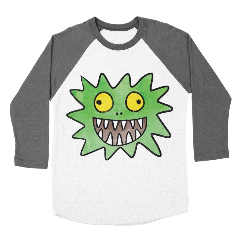 Smiley-Face - Monster Women's Baseball Triblend T-Shirt by Puttyhead's Artist Shop