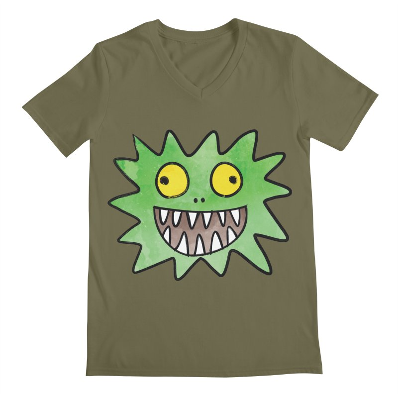 Smiley-Face - Monster Men's V-Neck by Puttyhead's Artist Shop